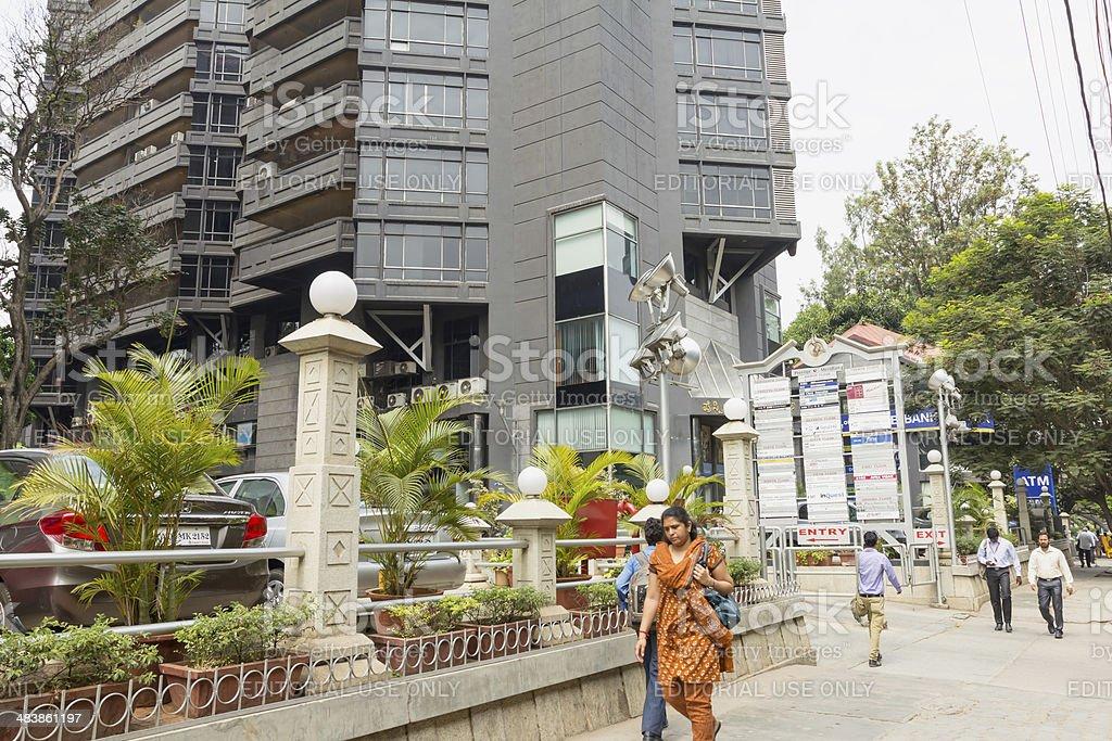 Bangalore financial district, India royalty-free stock photo