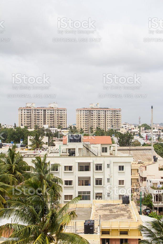 Bangalore residential district stock photo
