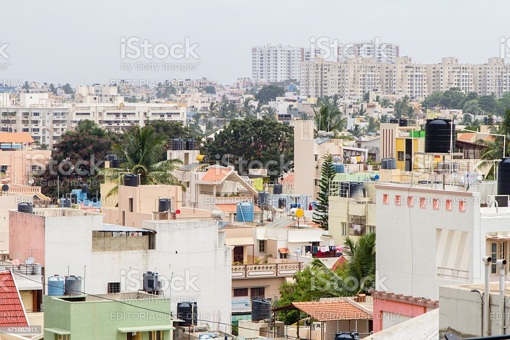 Bangalore residential district royalty-free stock photo
