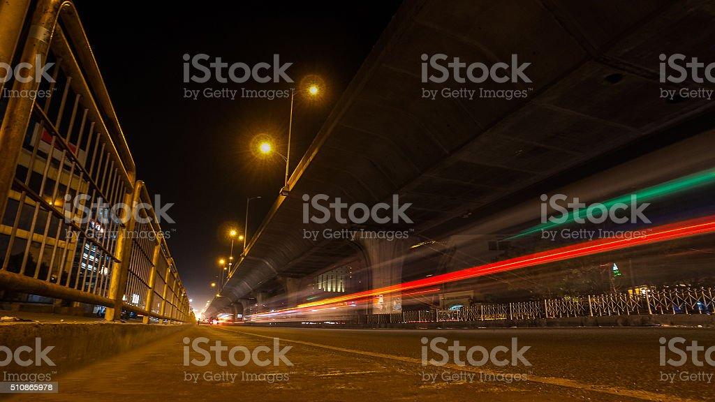 Bangalore Road Traffic stock photo