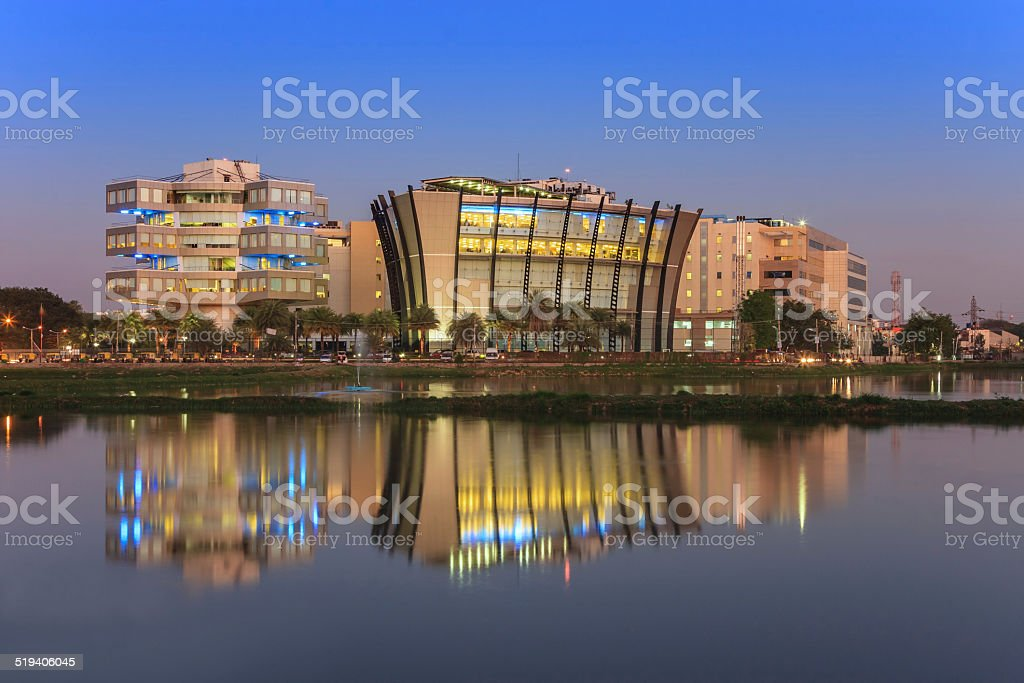 Bangalore Skyline, India stock photo