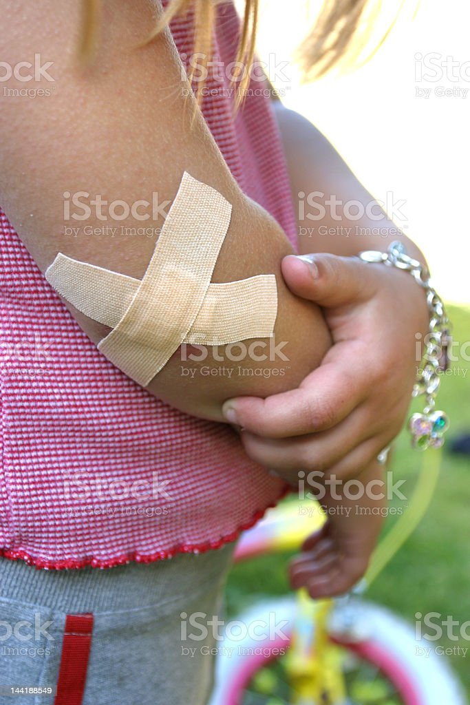 Banged elbow 2 stock photo