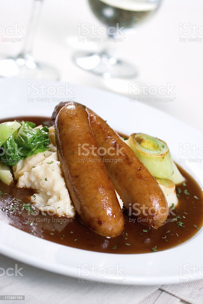 Bangers & Mash royalty-free stock photo