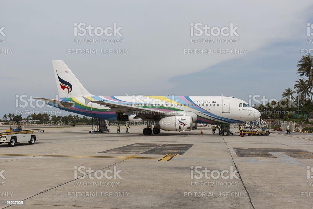 Bangkok Air aircraft is preparing for boarding and flight royalty-free stock photo
