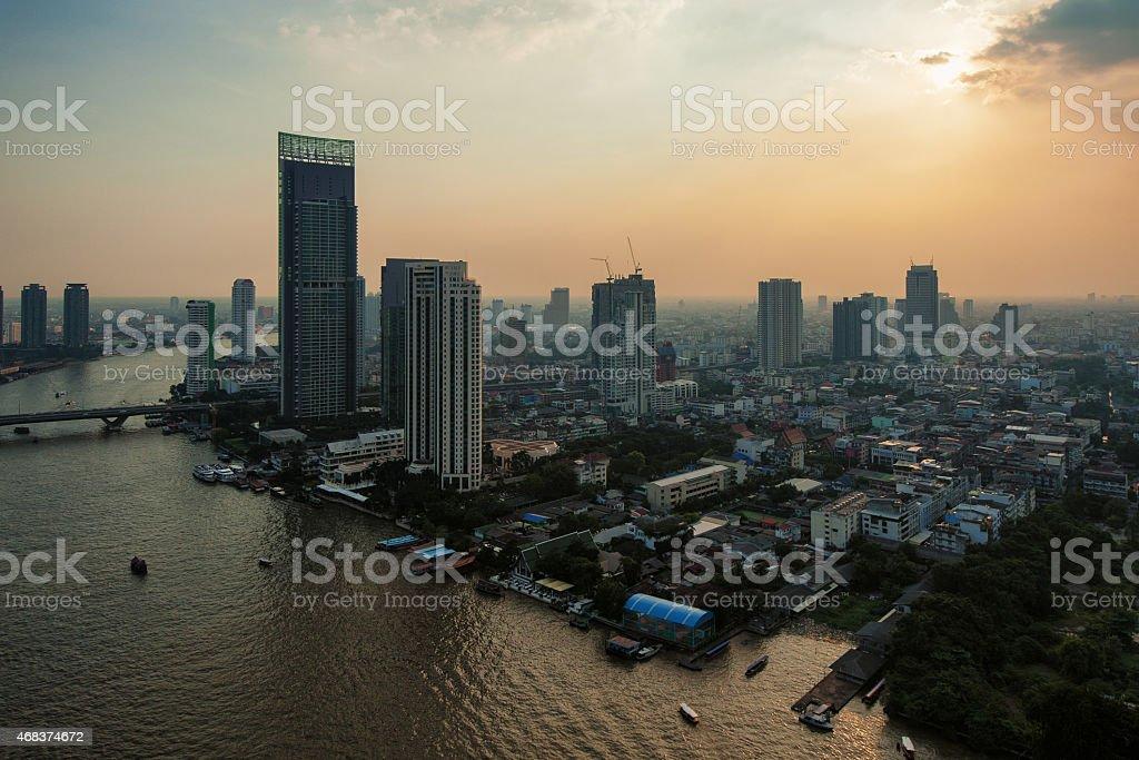 Bangkok et le fleuve photo libre de droits