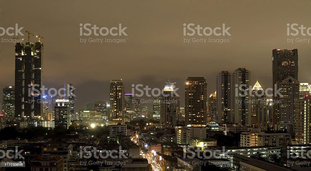 Bangkok at night royalty-free stock photo