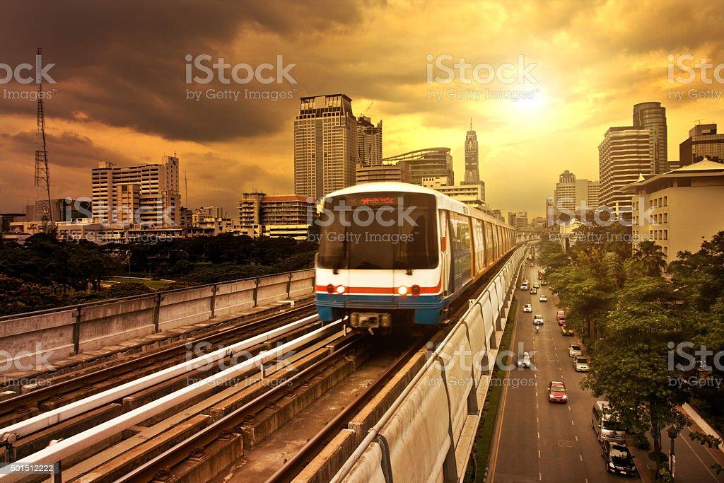 Bangkok BTS Electric Train Sky Train stock photo