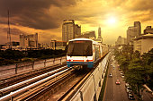 Bangkok BTS Electric Train Sky Train