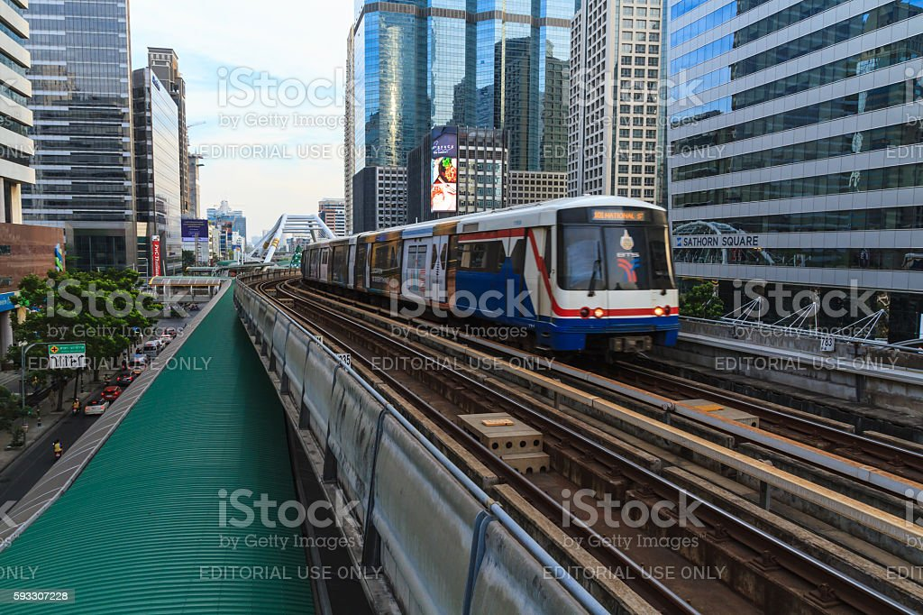 Bangkok BTS train system stock photo
