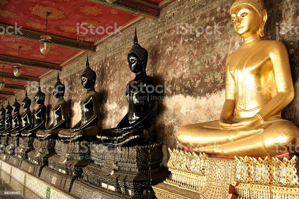 bangkok buddhas royalty-free stock photo