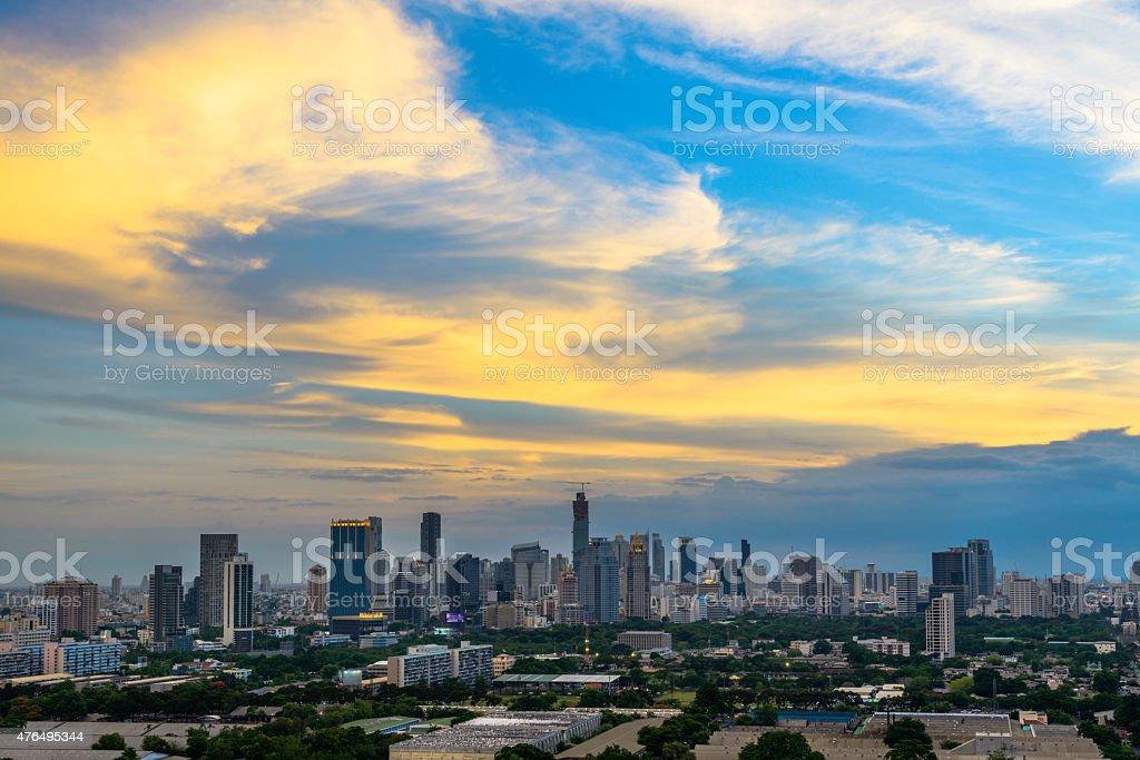 Bangkok city at twilight,Thailand royalty-free stock photo