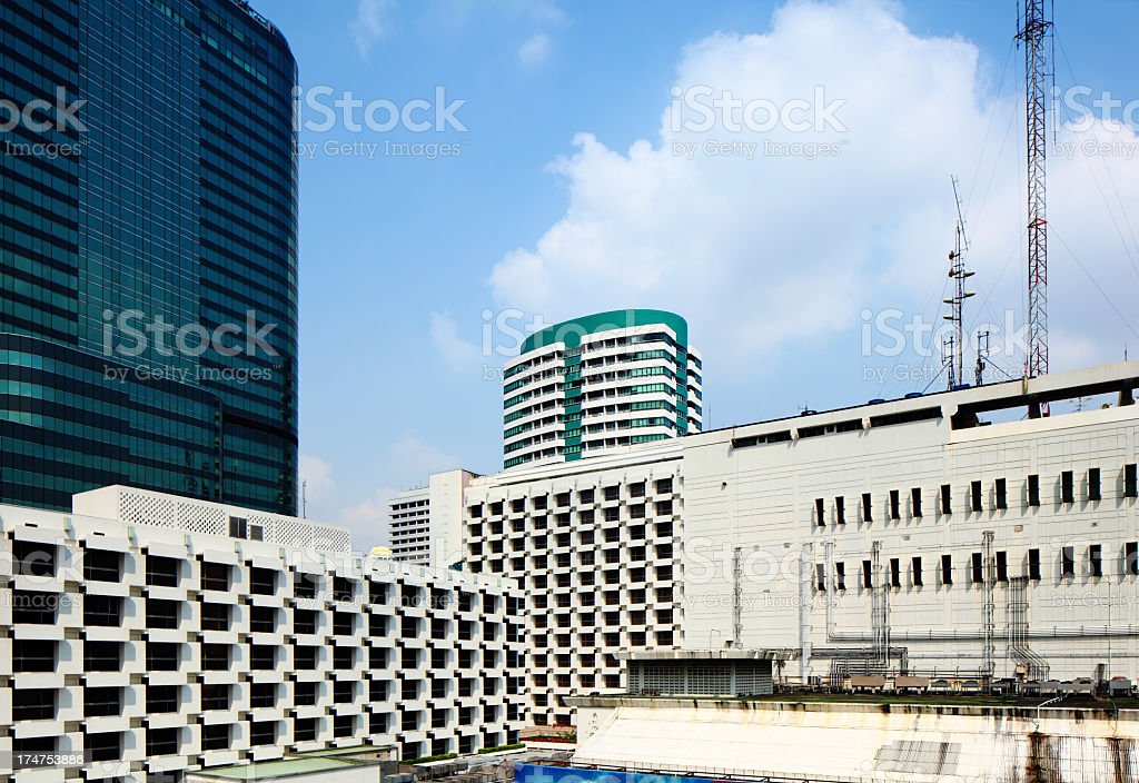 Bangkok city building royalty-free stock photo