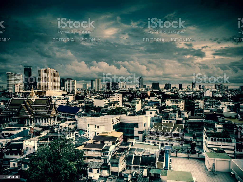 Bangkok City of Angels Skyline Cloudscape stock photo
