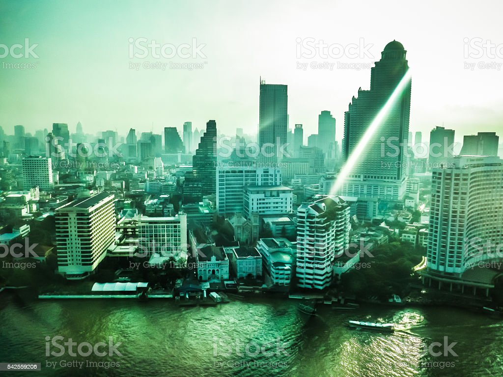 Bangkok City of Angels Skyscraper Skyline stock photo