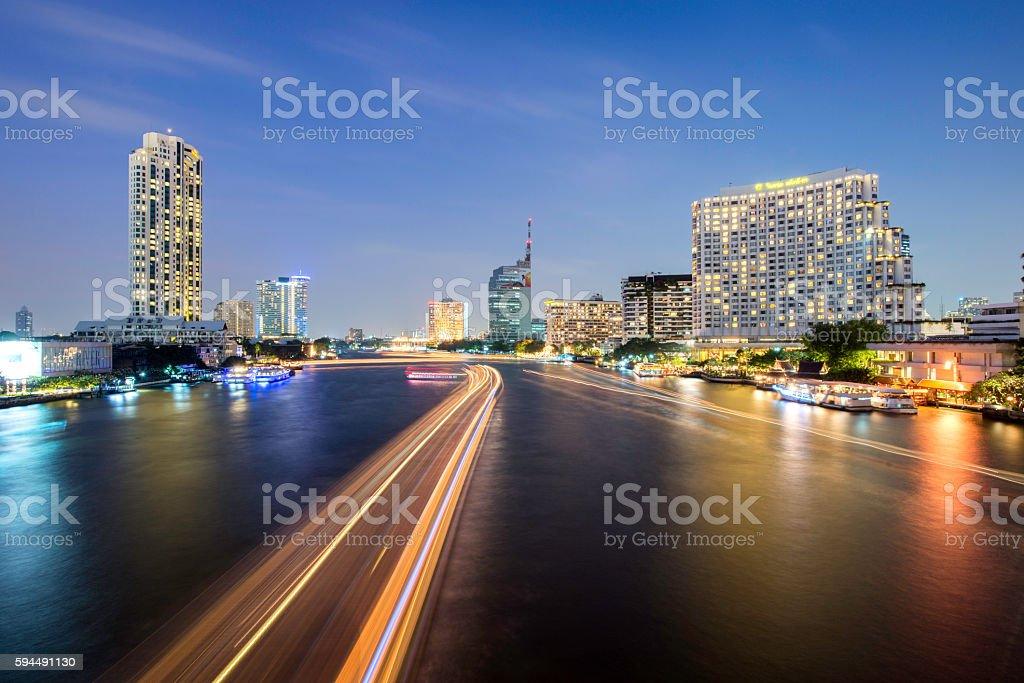 bangkok City river view,Thailand royalty-free stock photo