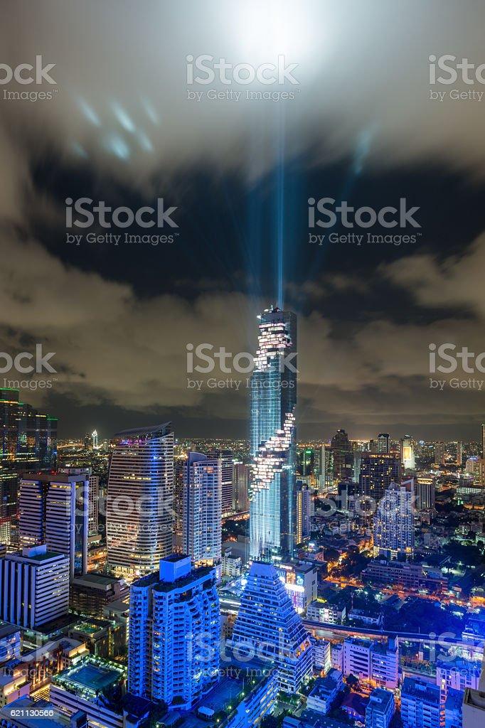 Bangkok city skyline, Mahanakhon skyscraper tower. stock photo