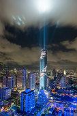 Bangkok city skyline, Mahanakhon skyscraper tower.