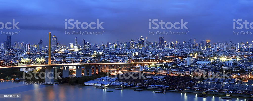 Bangkok city skyline royalty-free stock photo