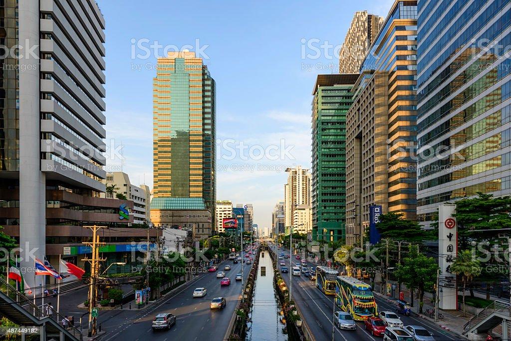 bangkok city skyline royalty-free stock photo