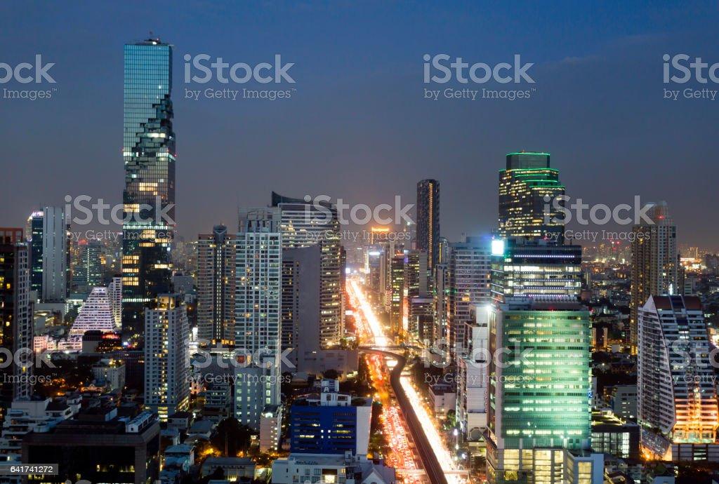 Bangkok City Skyline Thailand stock photo