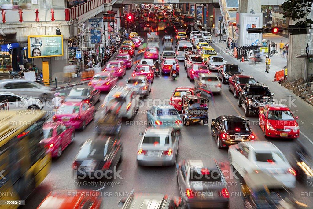 Bangkok City Traffic royalty-free stock photo
