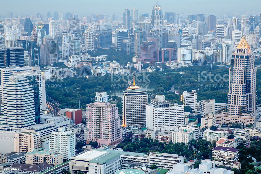 Bangkok City view from above stock photo