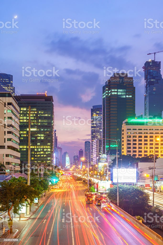 Bangkok cityscape and Sathorn Business District stock photo