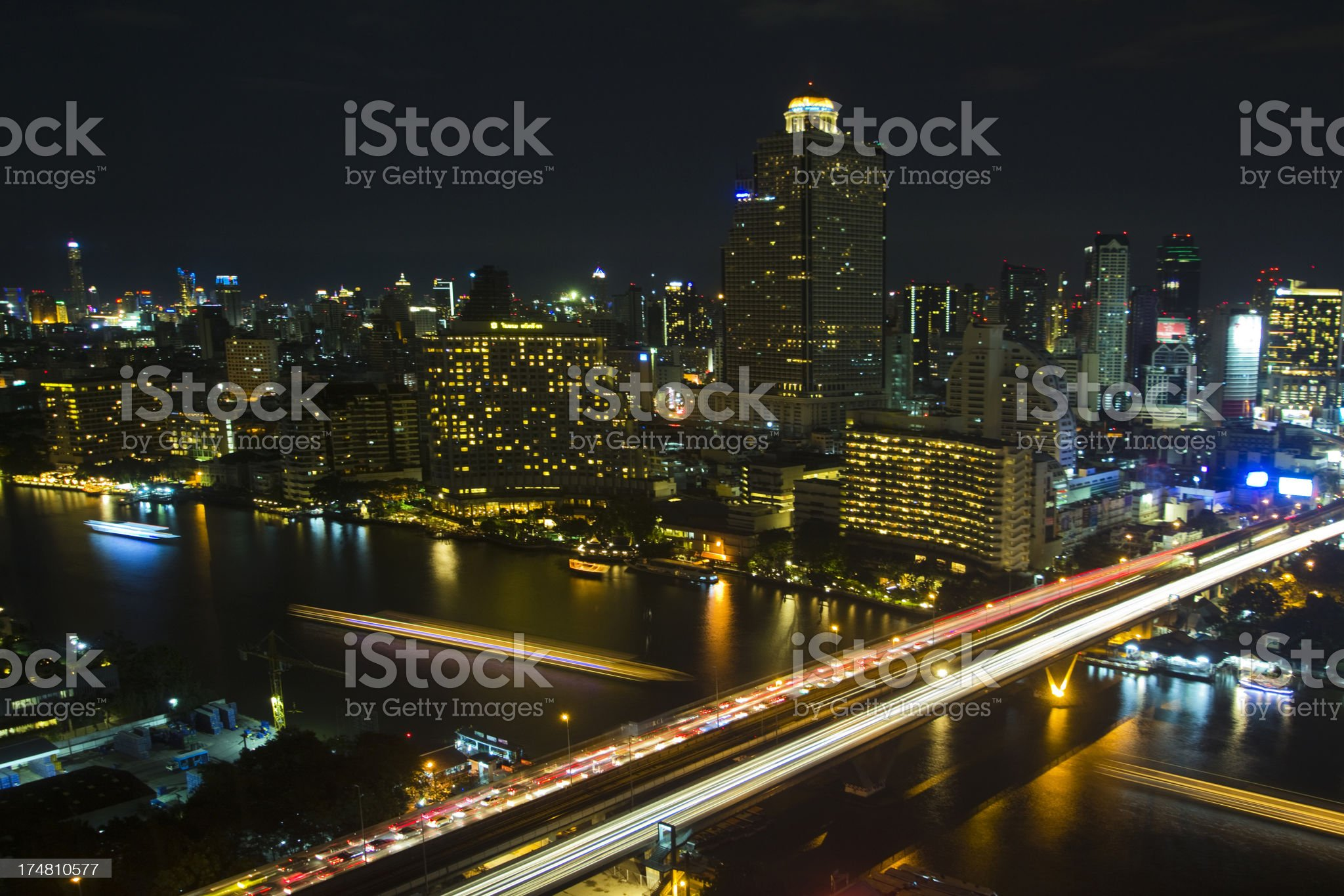 Bangkok cityscape royalty-free stock photo
