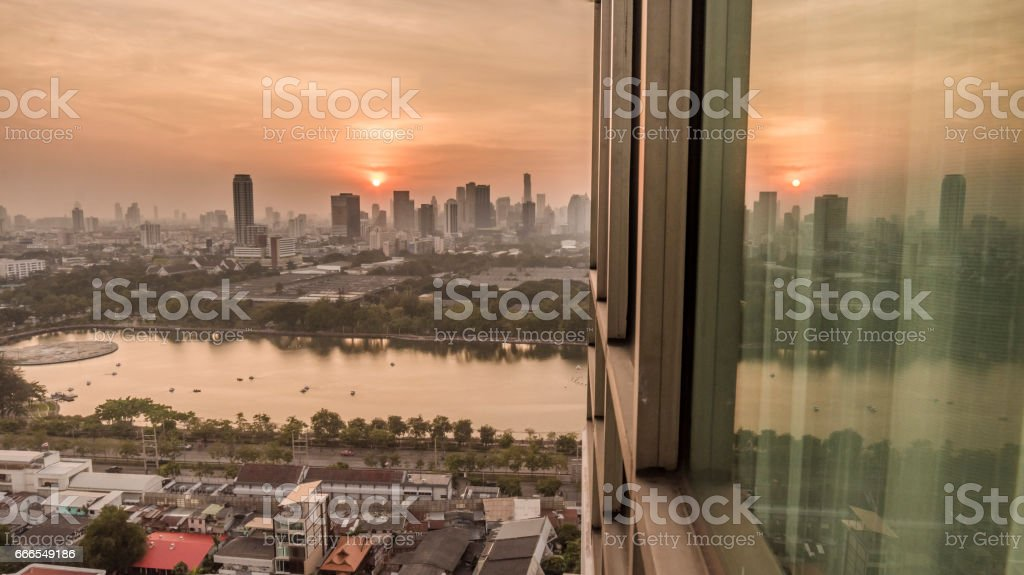 Bangkok cityscape stock photo