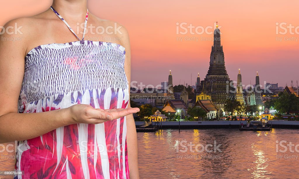 Bangkok concept is presented by female stock photo