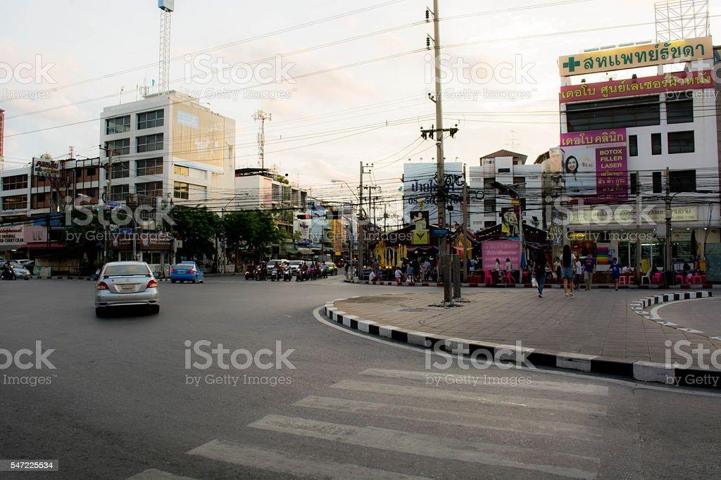 Bangkok evening skyline stock photo
