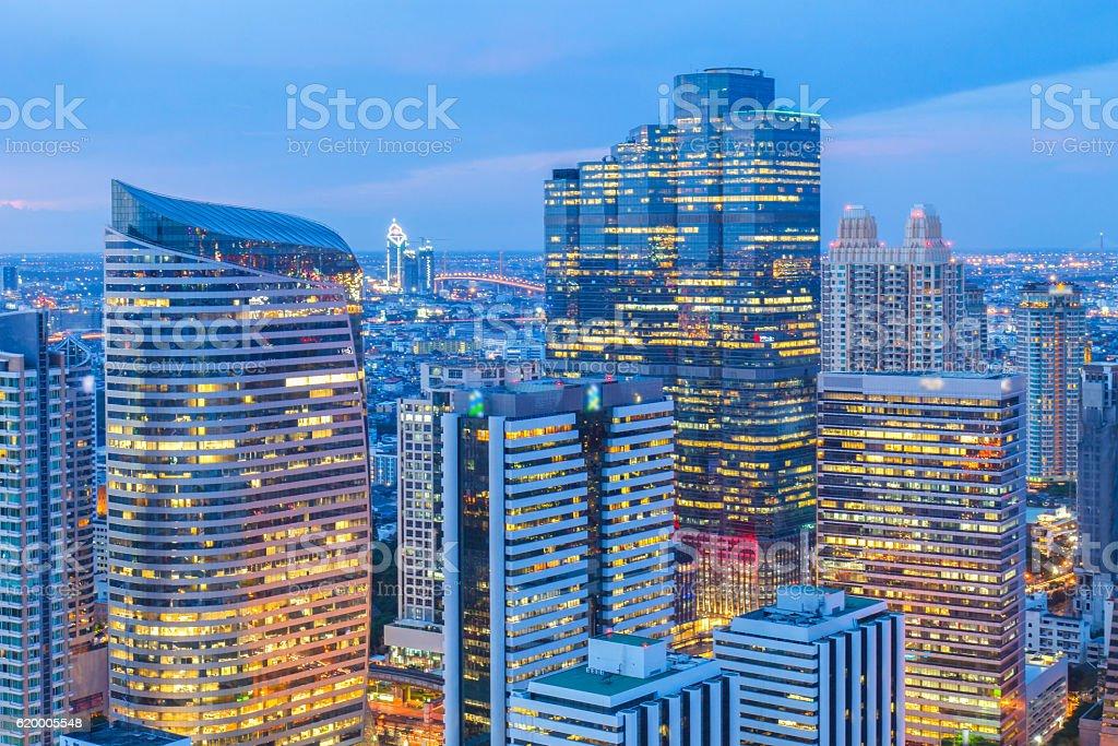 Bangkok financial district stock photo
