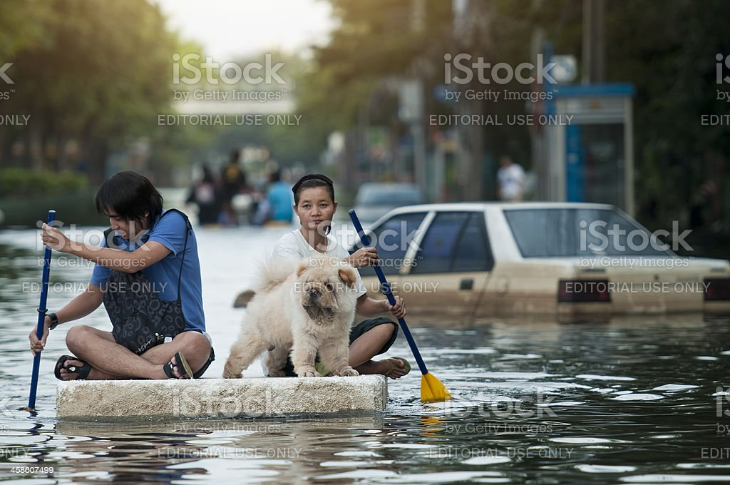 Bangkok Flood 2011 royalty-free stock photo