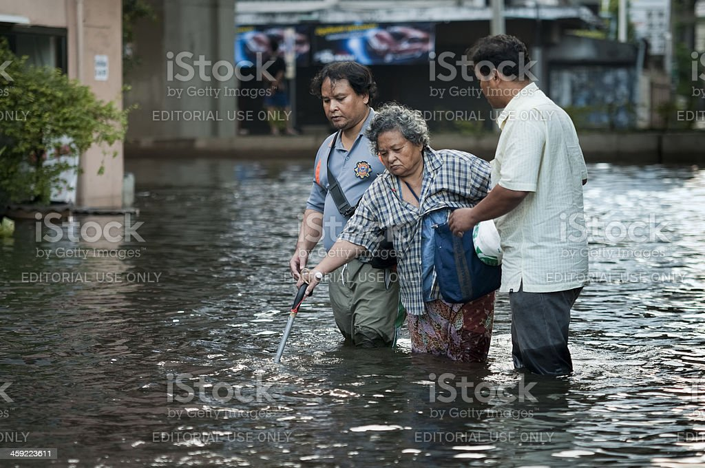 Bangkok Flood 2011 stock photo
