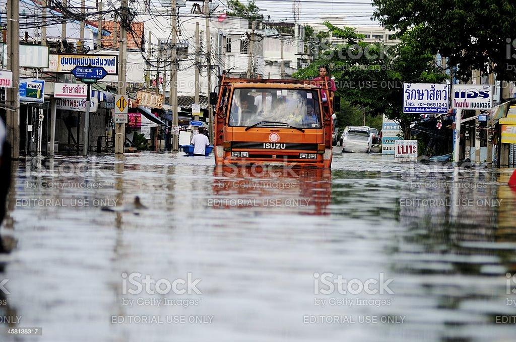 Bangkok floods. royalty-free stock photo