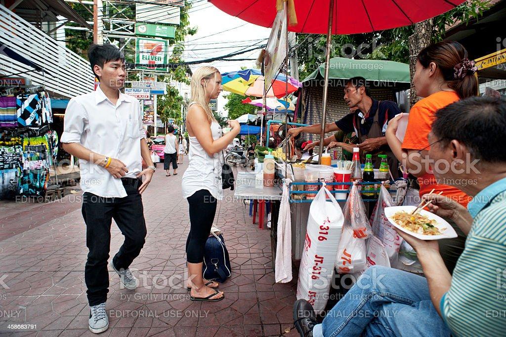Bangkok Food Vendor stock photo