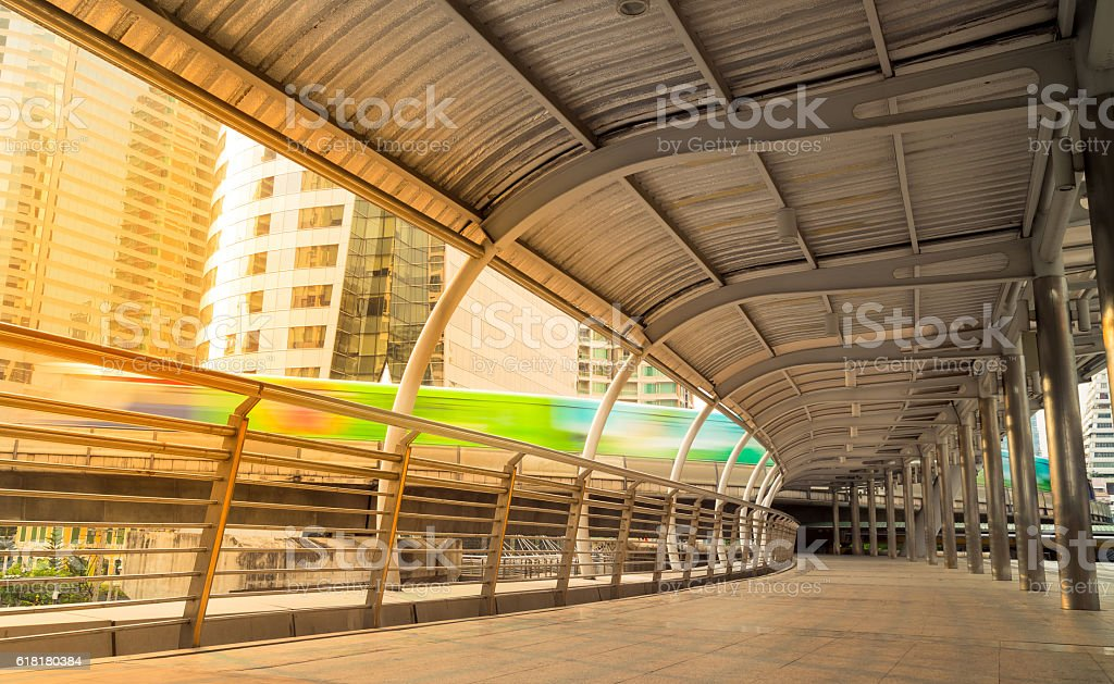 Bangkok footpath stock photo