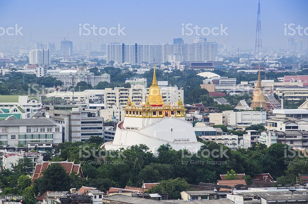 Bangkok Golden Mount from above view royalty-free stock photo