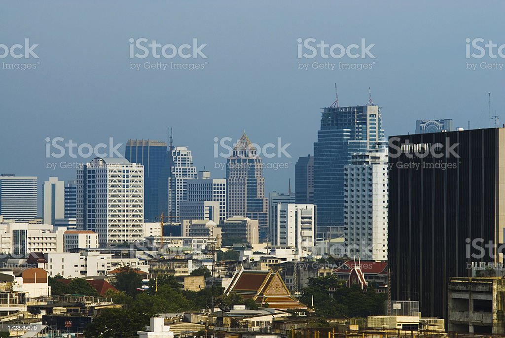 Bangkok Houses and Skyscrapers 3 royalty-free stock photo