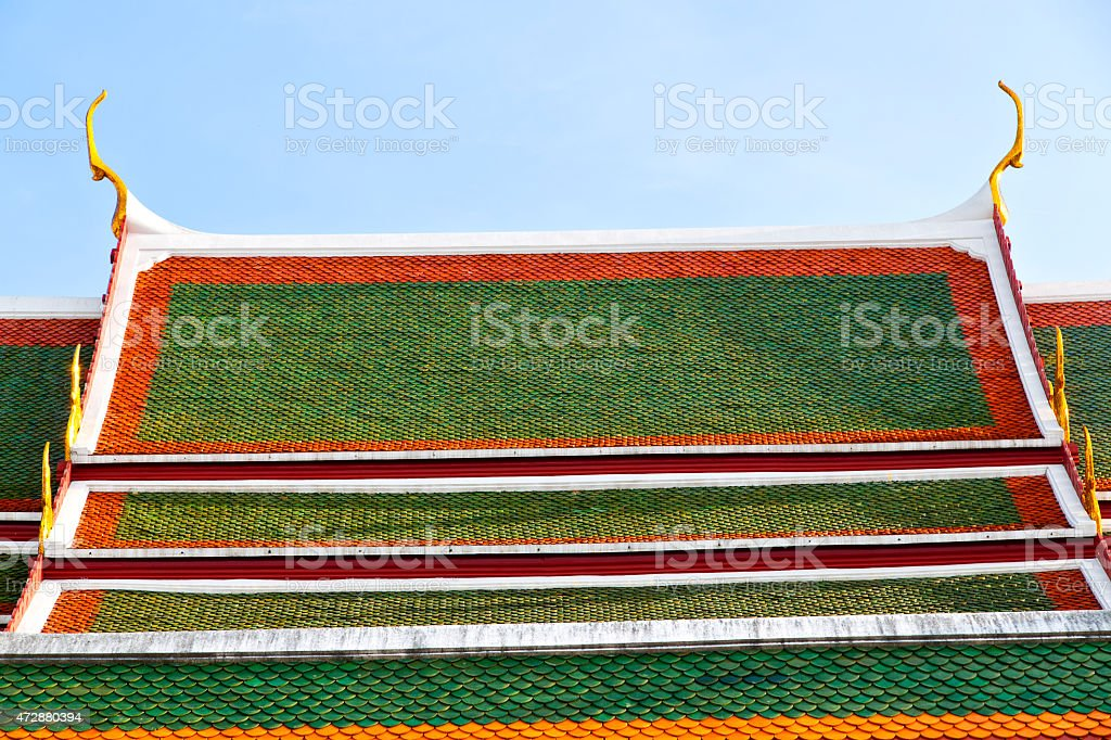 bangkok in the temple  thailand abstract   palaces   asia sky an stock photo