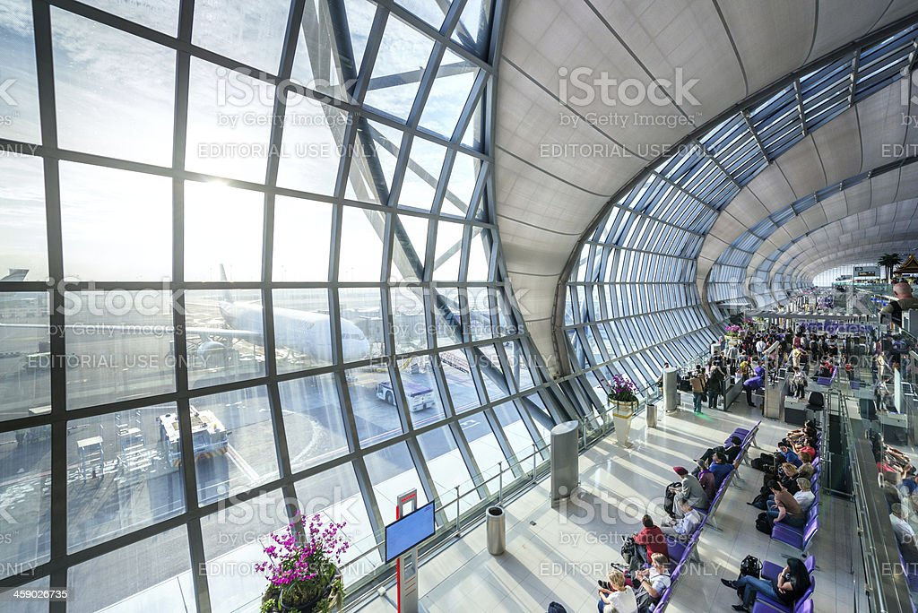 Bangkok International Airport royalty-free stock photo
