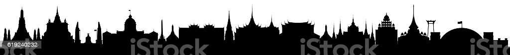 Bangkok, Isolated on White stock photo