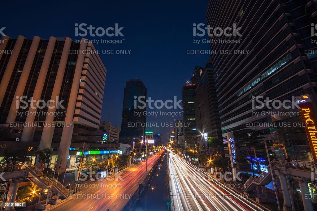 bangkok light stock photo