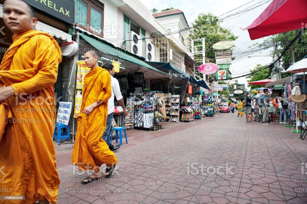 Bangkok Monks stock photo