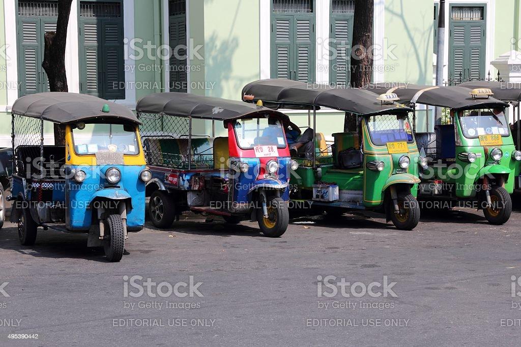 Bangkok moto taxi stock photo