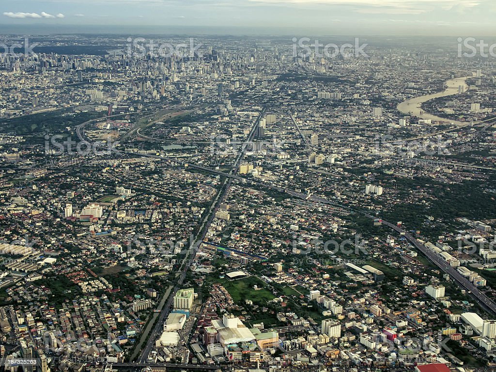 Bangkok panorama royalty-free stock photo