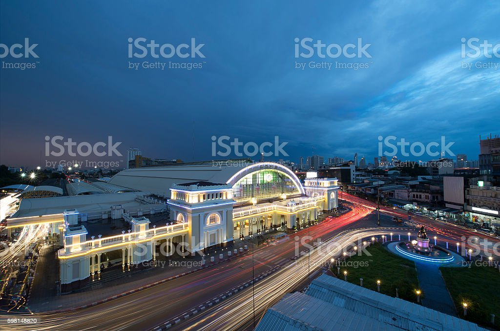 Bangkok railway syation : Central railway station of thailand stock photo