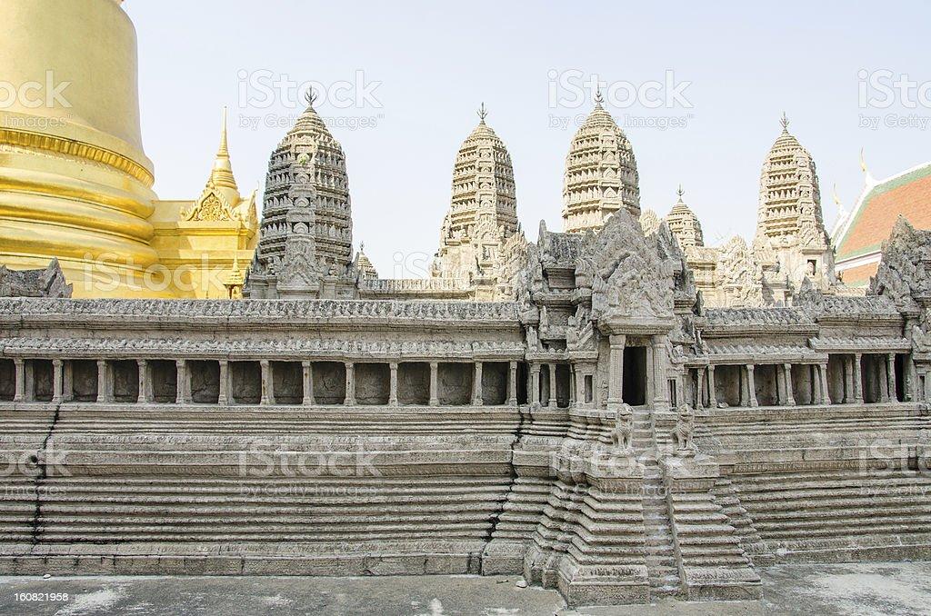 Bangkok Royal Complex - miniature of Angkor Wat royalty-free stock photo