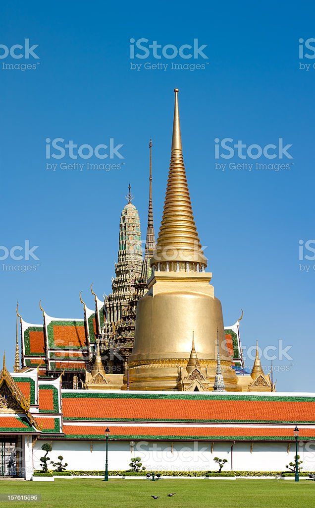 Bangkok royal palace - landmark tourist attraction in Thailand royalty-free stock photo