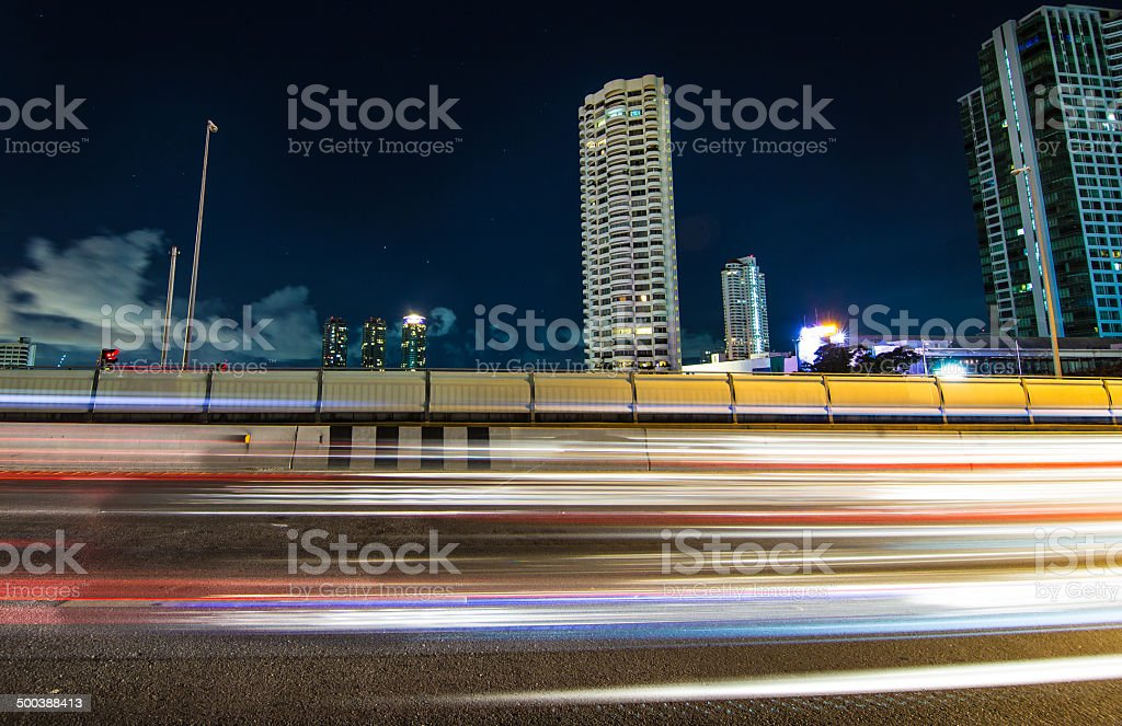 Bangkok Sathon area stock photo